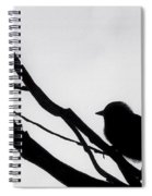 Sparrow In A Gray Sky Spiral Notebook