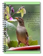 Sparrow Inspiration From The Book Of Luke Spiral Notebook