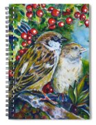 Sparrows On The Hawthorn Spiral Notebook