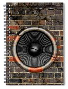 Speaker On A Cracked Brick Wall Spiral Notebook