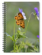 Speckled Yellow Moth On Pansy Wild Flower Spiral Notebook