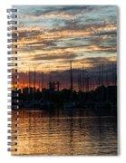 Spectacular Sky - Toronto Beaches Marina Spiral Notebook