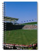 Spectators Watching A Soccer Match, Usa Spiral Notebook