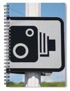 Speed Camera Sign Folkestone Spiral Notebook