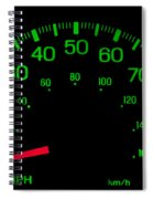 Speedometer On Black Isolated Spiral Notebook