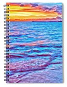 Spencer Beach Sunset Spiral Notebook