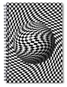 Sphere Abstract Pinch Spiral Notebook