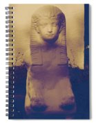 Sphinx Statue Blue Yellow And Lavender Usa Spiral Notebook