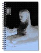 Sphinx Statue Three Quarter Profile Blue Glow Usa Spiral Notebook