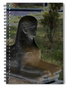 Sphinx Statue Three Quarter Profile Solar Usa Spiral Notebook