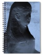 Sphinx Statue Torso Blue And Gray Usa Spiral Notebook