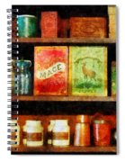 Spices On Shelf Spiral Notebook