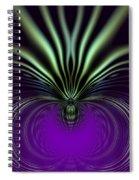 Spider Orchid Mandala Spiral Notebook