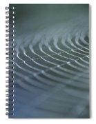 Spider Web With Dew Spiral Notebook