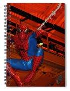 Spiderman Swinging Through The Air Spiral Notebook