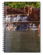 Spilling Over Waterfall Spiral Notebook