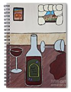 Essence Of Home - Spilt Glass Of Wine Spiral Notebook