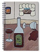 Essence Of Home - Spilt Wine Spiral Notebook