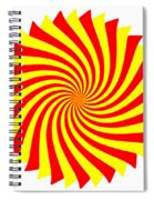 Spin Right On White Spiral Notebook
