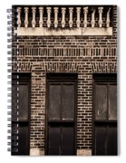 Spindles And Bricks Spiral Notebook