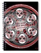 Spinning Celtic Skulls Spiral Notebook