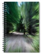 Spinning Through The Woods Spiral Notebook