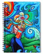 Spiral Bird Lady Spiral Notebook