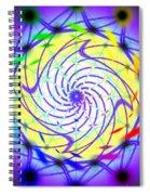 Spiral Light Hexagon Spiral Notebook