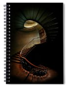 Spiral Staircase In Green And Red Spiral Notebook
