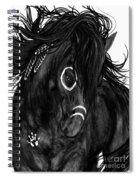 Spirit Feathers Horse Spiral Notebook