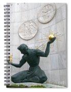 Spirit Of Detroit Monument Spiral Notebook
