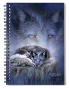 Spirit Of The Blue Fox Spiral Notebook
