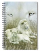 Spirit Of The White Lions Spiral Notebook