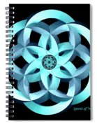 Spirit Of Water 1 - Blue Spiral Notebook