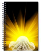 Spiritual Light In Cupped Hands Spiral Notebook