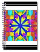 Spirituality - Life Lights - Kaleidoscope - Triptych Spiral Notebook