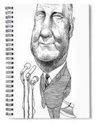 Spiro Agnew Caricature Spiral Notebook
