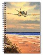 Spitfire Mk9 - Over South Coast England Spiral Notebook