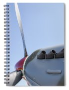 Spitfire Propeller And Exhaust Spiral Notebook