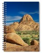 Spitzkoppe Mountain Landscape Of Granite Rocks Namibia Spiral Notebook