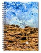 Splash In La Jolla By Diana Sainz Spiral Notebook