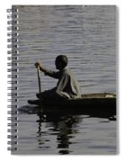 Splashing In The Water Caused Due To Kashmiri Man Rowing A Small Boat Spiral Notebook