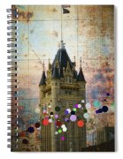 Splattered County Courthouse Spiral Notebook