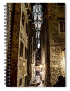 Split Cathedral From The Temple Of Jupiter At Night Croatia Spiral Notebook
