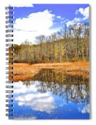Split Down The Middle Spiral Notebook
