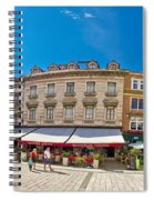 Split Historic Square Panoramic View Spiral Notebook