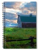 Split Rail Fence Barn Spiral Notebook