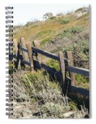 Split Rail Fence Yellow Spiral Notebook
