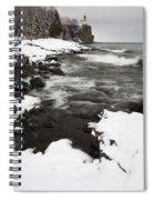 Split Rock Lighthouse Winter 17 Spiral Notebook