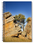 Split Rocks With Woman Spiral Notebook